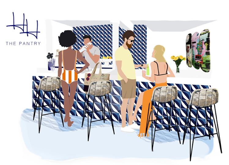 Illustration of The Pantry Bar at Holiday House