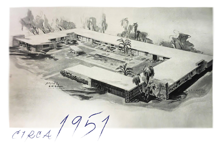 Historical Sketch of Holiday House from 1951